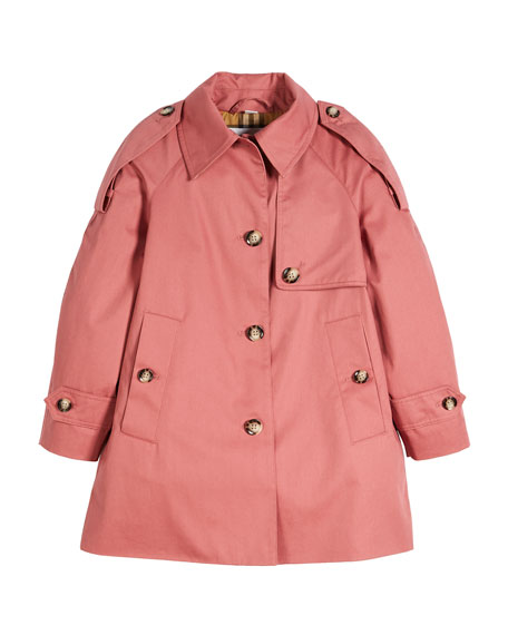 Burberry Danica Trench Top Coat, Size 4-14
