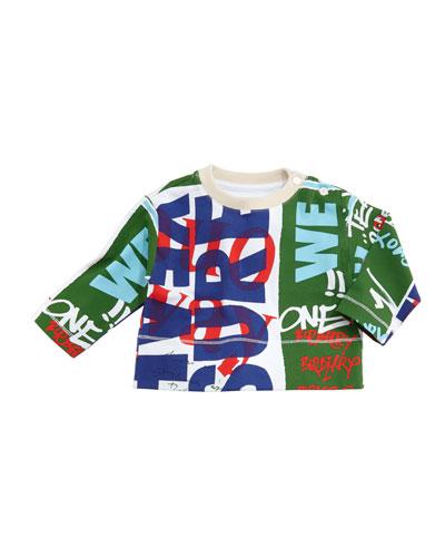 Godfrey Graffiti-Print Sweatshirt, Size 6M-3