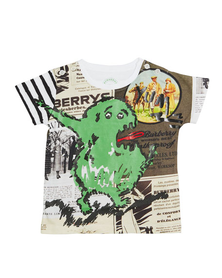 Green Monster Cotton Tee, Size 12 Months-3 Years