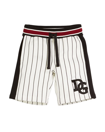 Striped D&G Baseball Shorts, Kid Boys