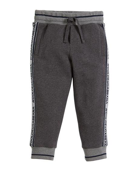 Dolce & Gabbana Logo-Tape Sweatpants, Size 2-6