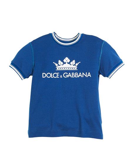 Crown D&G Logo Ringer Tee - Dark Blue, Toddler Boys