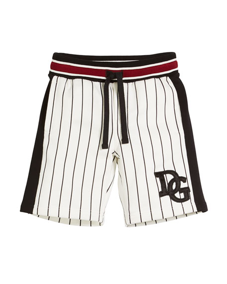 Dolce & Gabbana Striped D&G Baseball Shorts, Toddler