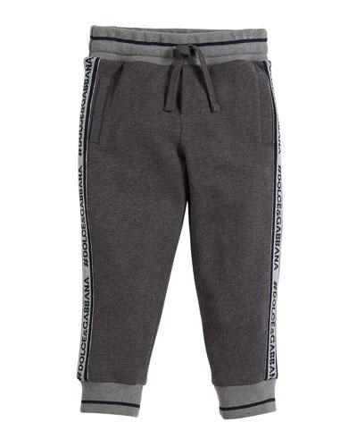 Logo-Tape Sweatpants, Boys' Size 8-12