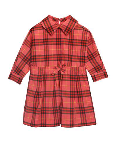 Crissida Long-Sleeve Plaid Dress, Size 6 Months-3