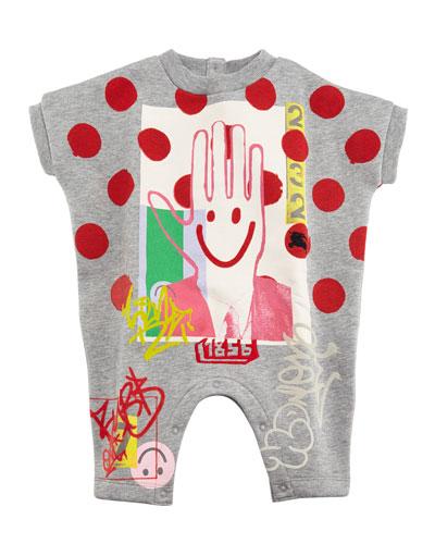 Ralf Logo & Polka-Dot Playsuit, Size 3-18 Months
