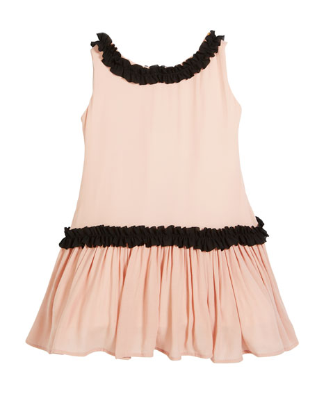 Sleeveless Georgette Ruffle Dress, Size 2-6