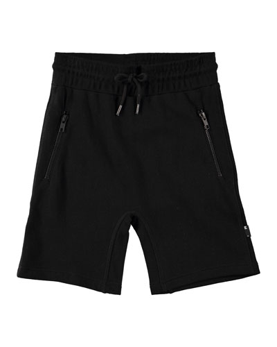 Alia Sweatshorts w/ Zip Pockets, Size 4-12