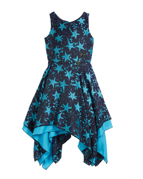 Zoe All Star Jacquard Sleeveless Dress, Size 7-16