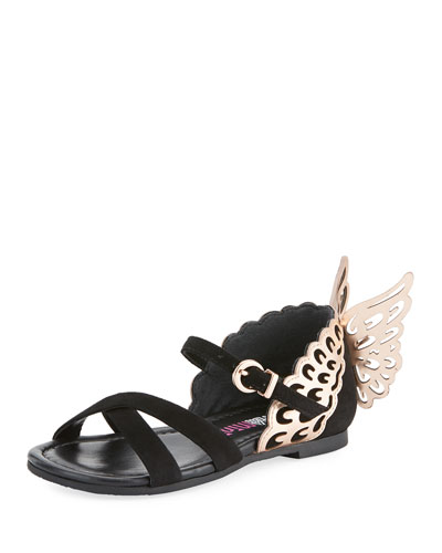 Evangeline Crisscross Butterfly-Wing Sandals, Toddler/Kid
