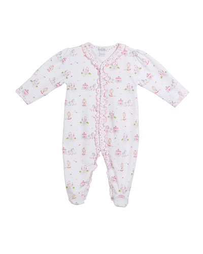 Queen of the Castle Printed Footie Playsuit, Size Newborn-9M