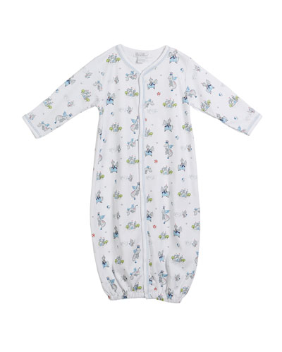King of the Castle Printed Convertible Gown, Size Newborn-S
