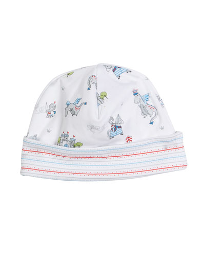King of the Castle Printed Baby Hat