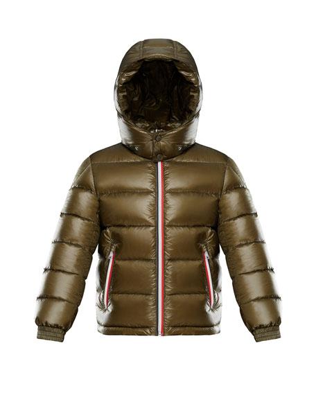 Moncler Gastonet Puffer Coat w/ Tricolor Zippers, Size