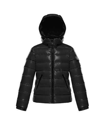 Bady Fitted Puffer Jacket, Black, Size 8-14