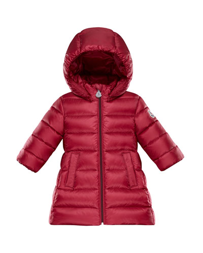 Majeur Puffer Coat w/ Hood, Red, Size 12M-3T