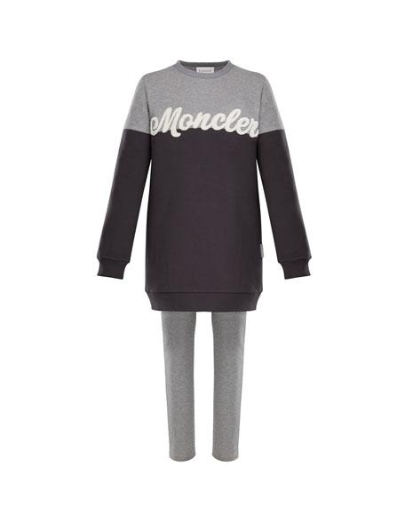 476d0cf6120a Moncler Two-Tone Logo Sweater w  Leggings