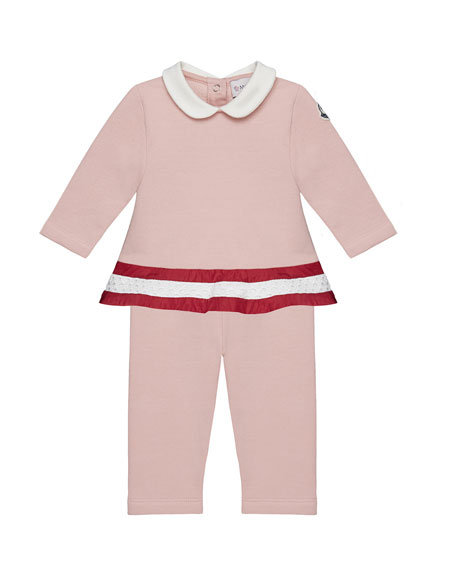 Moncler Long-Sleeve Peplum Top & Pants Set, Light