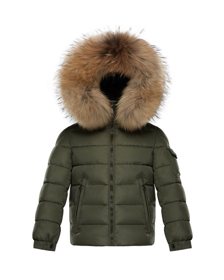 Moncler Boys' Byron Hooded Puffer Jacket, Size 4-6
