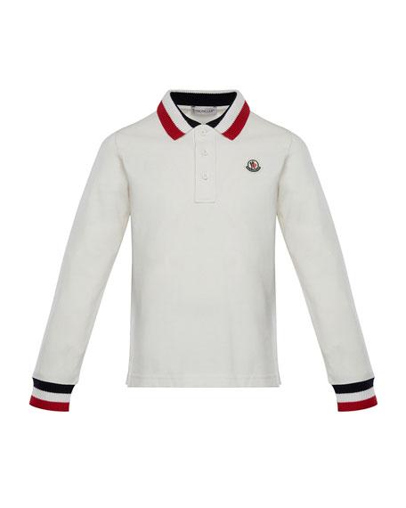 Maglia Long-Sleeve Polo Shirt, Size 4-6