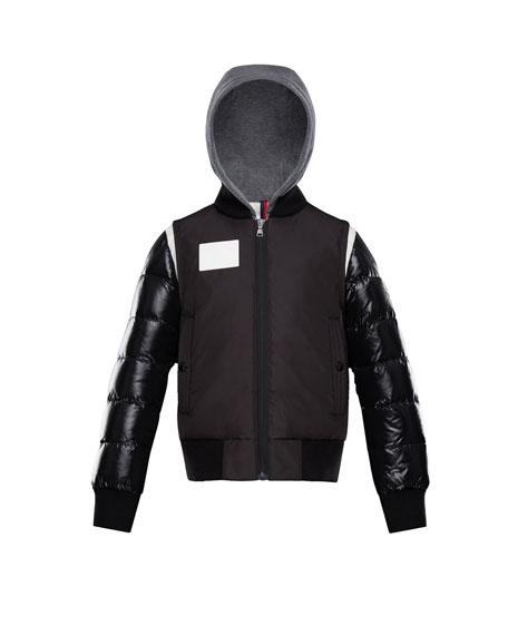 Montpellier Mixed-Media Hooded Jacket, Size 8-14