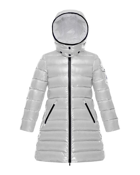 Moka Quilted Puffer Coat w/ Hood, Size 8-14