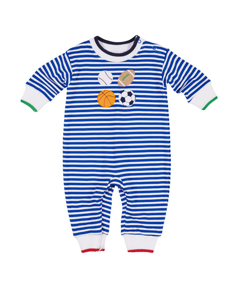 Striped Sports Coverall, Size 3-18 Months