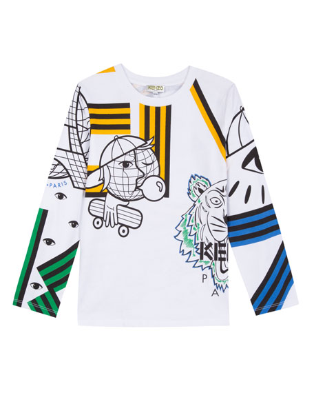 MULTI-TECH ICON GRAPHIC LONG-SLEEVE TEE, SIZE 8-12