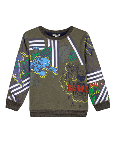 Multi-Tiger Icon Sweatshirt, Size 2-6