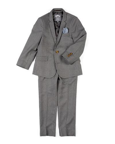 Boys' Two-Piece Mod Glen Plaid Suit, 2-14
