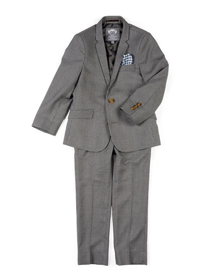 Appaman Boys' Two-Piece Mod Glen Plaid Suit, 2-14