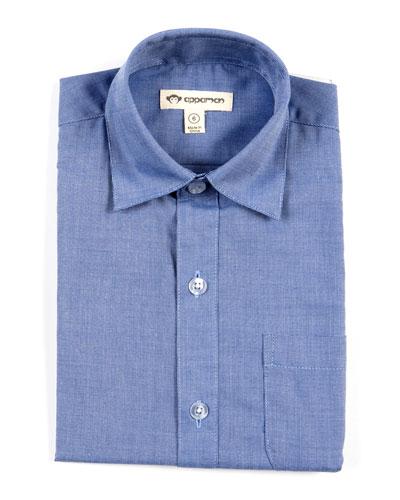 Standard Solid Long-Sleeve Shirt, Size 2-10