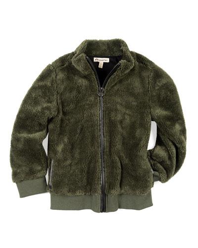 Woodland Plush Zip-Up Jacket, Size 2-10
