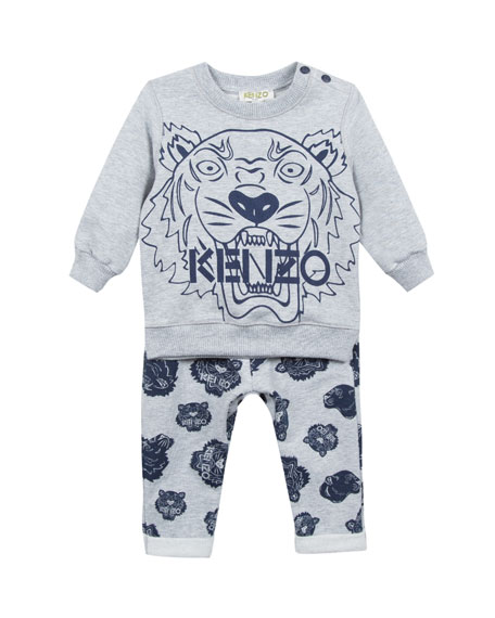 Tiger Icon Sweatshirt w/ Matching Pants, Size 12-18 Months
