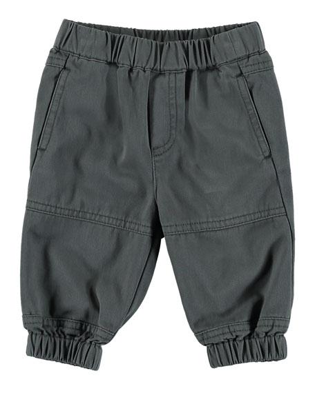 Stella McCartney Kids Woven Cotton Joggers, Size 12-36