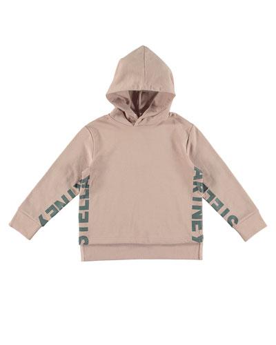 Logo Hooded Pullover Sweatshirt, Size 4-14