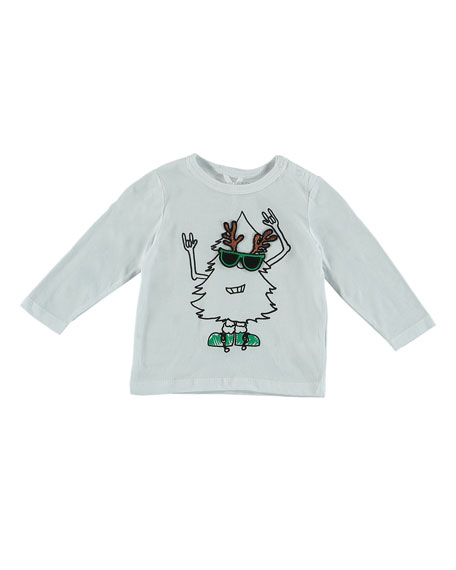 Long-Sleeve Christmas Tree Graphic Tee, Size 12-36 Months