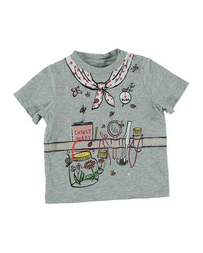 Explorer Outfit Trompe l'Oeil Short-Sleeve Tee, Size 12-36 Months
