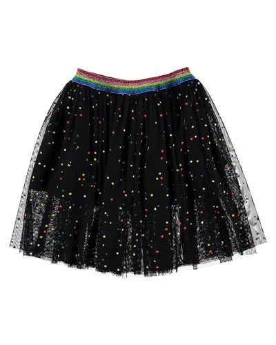 Dot Tulle A-Line Skirt, Size 4-14