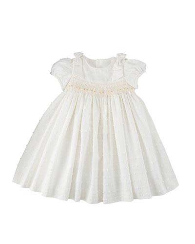 Swiss Dot Smocked Dress, Size 3-24 Months
