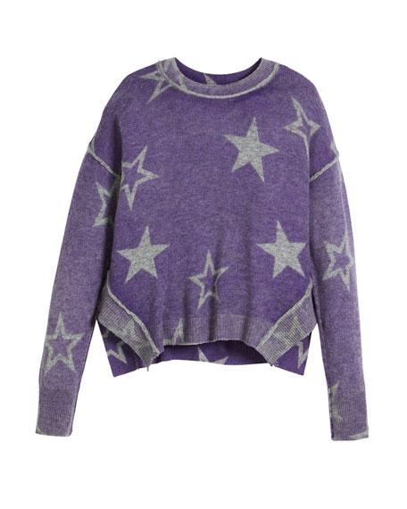 Autumn Cashmere Stellar Inked Boxy Crewneck Sweater, Size