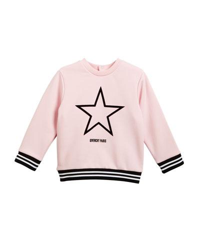 Star Logo Sweatshirt Top, Girls' 6-18 Months