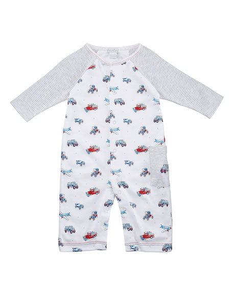 Classics Printed Raglan Coverall, Size 3-24 Months