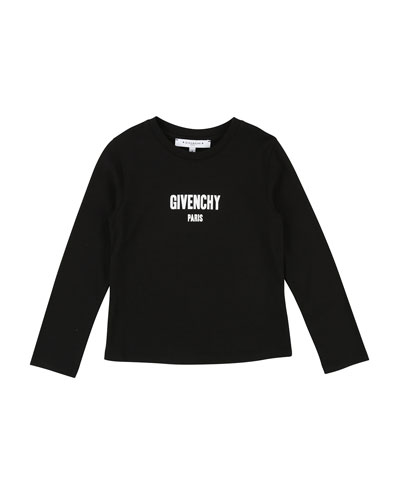 Long-Sleeve Logo Tee, Size 4-5