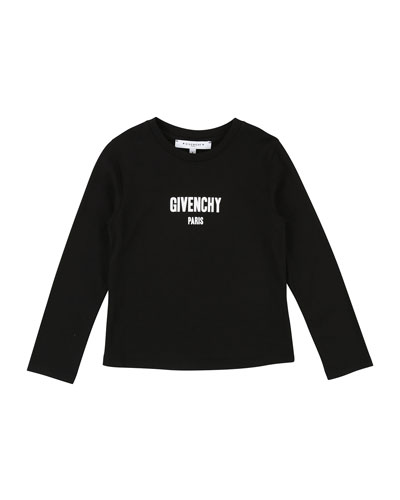 Long-Sleeve Logo Tee, Size 12-14