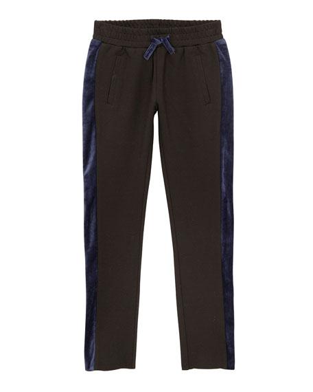 Kinsley Knit Trousers W/ Contrast Sides, Size S-L, Black