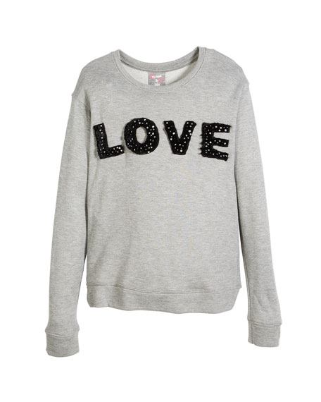Flowers By Zoe Love Pearly-Trim Sweatshirt, Size S-XL