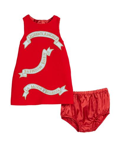 Queen's Angels Sleeveless Dress, Size 12-30 Months