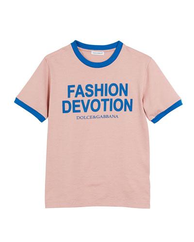 Fashion Devotion Short-Sleeve Jersey T-Shirt, Size 8-12