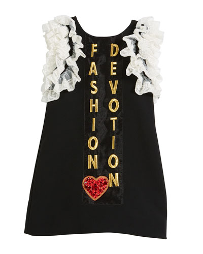 Fashion Devotion Lace-Trim Dress, Size 8-12